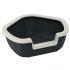 Открита ъглова котешка тоалетна Ferplast DAMA, 57,5 x 51,5 x h 22 cm