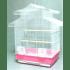 Клетка за птици с двоен покрив и ситна решетка