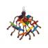 Играчка за папагал под формата на паяк - 12x30см.