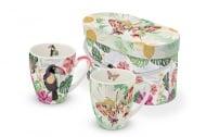 Комплект порцеланови чаши, Тукан и Пеперуда