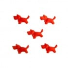 Куче мини 14 мм червено -50 броя