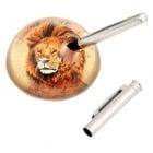 Преспапие - лъв с държач за химикал