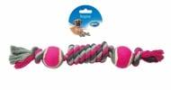 """""""Duvo+"""" - Играчка за куче въже навързано с два броя тенис топки"""
