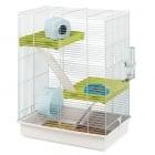 Триетажна клетка за хамстери 46 x 29 x h 58 cm CAGE HAMSTER TRIS WHITE