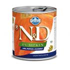 Пълноценна храна за кучета в зряла възраст N&D Pumpkin Lamb&Blueberry АГНЕШКО, ТИКВА & БОРОВИНКИ  - 285гр