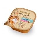 Пастет за котки склонни към напълняване Pro natural 100гр - два вкуса