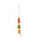 Естествена играчка за птици с въже от сезал, 30 см.