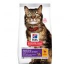 Hill's Science Plan Adult Sensitive Stomach & Skin с пиле - Суха храна за котки на възраст над 1 година, препоръчвана от ветеринарите; подпомага здравето на кожата и блясъка на козината, балансира храносмилането - три разфасовки