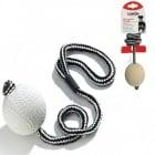 Мека гумена топка с въже подходящо за обучение на кучето