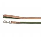 Повод за куче DOUBLEPREMIUM GREEN/ECRU, различни размери