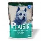 Пауч за кучета над 12 месеца Plaisir в сос Грейви - различни вкусове, 100 гр.