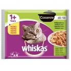 Whiskas Casserole - Пауч в желе за израснали котки над 1 година, 4х85 гр., различни вкусове