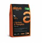 Пълноценна храна за подрастващи кучета от малки породи Alleva® Natural, с пиле и тиква, 0.800кг