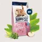 Happy Cat JUNIOR – Джуниър Пилешко -Храна за котета на възраст от 4-тия до 12-ия месец - три разфасовки