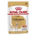 Royal Canin Breed Chihuahua - Консервирана храна специално за израснали кучета чихуахуа над 8 месеца, поддържа доброто храносмилане, помага при засищането на повишения апетит, за здрава кожа и красива козина - 85гр