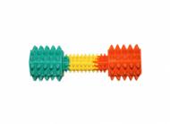 RELY Трицветна гумена гира 18см / 180гр