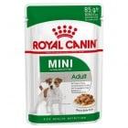 Royal Canin Mini Adult - Консервирана храна за пораснали кучета от малки породи (до 10 кг), подходяща от 10-месечна до 12-годишна възраст, обогатена с EPA и DHA, с балансирано съдържание на калории; за добро храносмилане 85гр