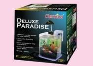 Нано аквариум Delux Paradise с прозрачна основа - 6,4л. - с различни цветове на основата