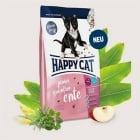 HAPPY CAT JUNIOR GRAIN–FREE /Без зърнени съставки/ с Патешко - Храна за малки котета от 5 седмици до 12 месеца - три разфасовки