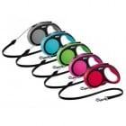 Автоматичен повод  за кучета flexi Comfort с въже - 3 размера; различни цветове