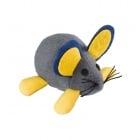Котешка играчка FERPLAST мишка  изработена от плат с вибрационен ефект- 10 x h 5,5 cm - Ø 11 cm