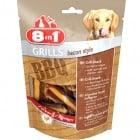 Лакомство за куче 8in1- Хрупкави хапки с формата на беконени ивици и ароматен вкус на барбекю с подправки