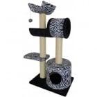 Драскало за коте тип катерушка с хралупа и стойки, пет нива, сизал и кадифе - 100 x 68 x 30 см