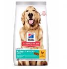 Храна с пилешко за кучета от едрите породи (над 25кг) над 1 год., с наднормено тегло HILL'S SCIENCE PLAN Perfect Weight Large Breed Adult, 12.00кг