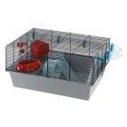 CAGE MICKY/MILOS LARGE BLACK- клетка за хамстер и японски мишки , оборудвана 58х38х30,5см