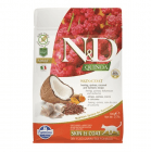 N&D QUINOA SKIN & COAT с херинга - Храна за котки с херинга, киноа, кокос и куркума при хранителни чувствителности, за поддържане на кожата и козината