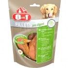 Лакомство за куче 8in1 Филенца Pro Digest S - Пилешки филенца, обогатени със съставки, които поддържат правилното храносмилане на Вашето куче
