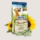 Happy Dog – Natur Croq Lamm & Reis - Пълноценна балансирана храна за кучета, склонни към алергични прояви с агне и ориз - три разфасовки