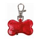 Медальон за кучета Фенерче + адресник с форма на кокалче, 4.5 × 3 cm