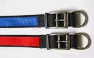 Нашийник изкуствена лента - двоен, двуцветен - различни цветове и размери