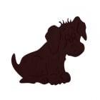 Деко фигурка куче, Filz, 50 mm, тъмнокафяво