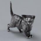 Миниатюра, котка, 27 mm, 4 броя, черна