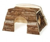 Дървена къщичка за дребни гризачи - хамстер, морско свинче, зайче и др.