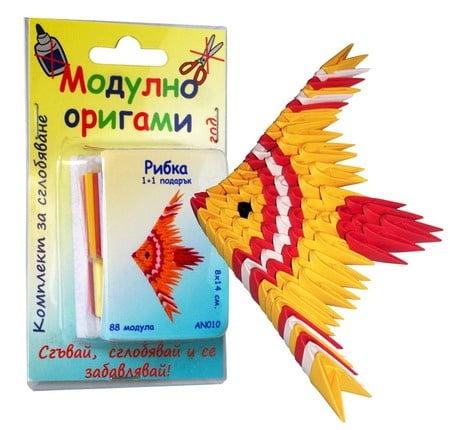 Комплект Модулно оригами Рибка 1+1