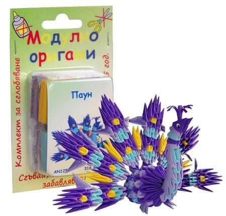 Комплект Модулно оригами паун