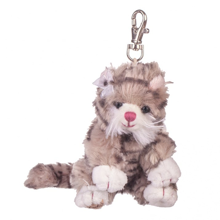 Плюшенa играчка - ключодържател кафяво котенце