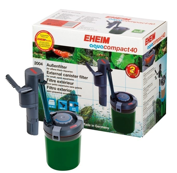Външен филтър EHEIM aquacompact 40 с EHEIM filter media SUBSTRATpro