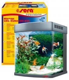 Напълно оборудван аквариум sera Biotop LED Cube® 130 л