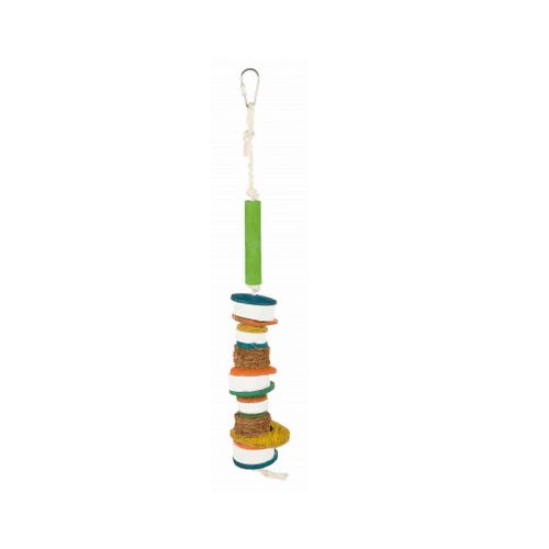 Естествена играчка за птици с лавави камъни, 35 см.