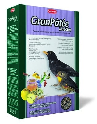 Висококачественна храна за птици, /насекомоядни/ GranPatee - insectes Padovan