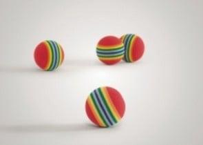 Меки цветни топчици