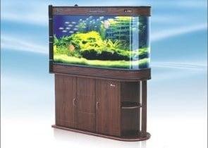 HUL-1000 Двулицев аквариум с шкаф - 190л