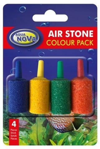 Aqua Nova Камъче за въздух -4бр цветни 15x25mm Aqua Nova