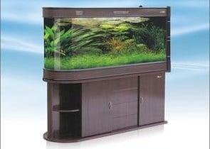 HUL-1500 Двулицев аквариум с шкаф - 365л