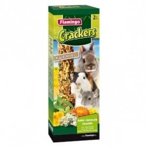Flamingo Cracker Hay&Herbs /крекер гризачи с билки и сено/-2бр ;140гр