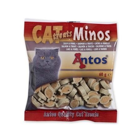 снакс за котки CAT TREATS MINOS сьомга и пъстърва 60 гр.